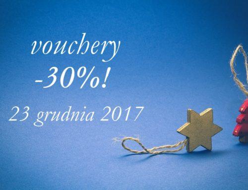 30% rabatu na vouchery!